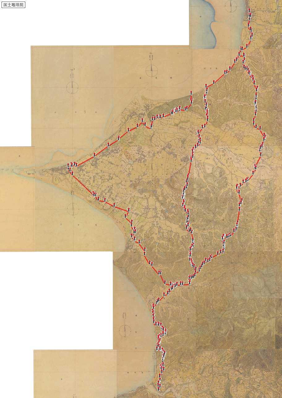 図1明治初期の西房総街道