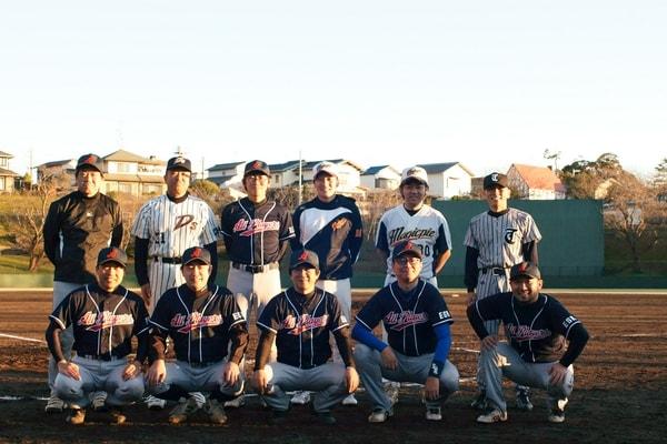 野球部の集合写真