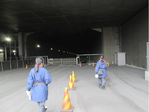 予備トンネルまでの通路